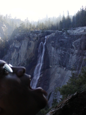 Half-Dome 32 - Ona Drinking Nevada Falls
