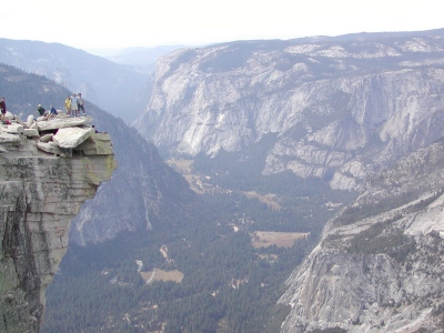 Half-Dome 61 - Diving Board - Ona, Jeff, Dave, and Yosemite Valley