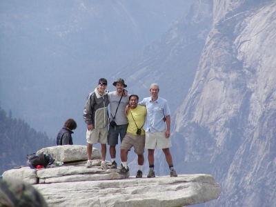 Half-Dome 65 - Diving Board - Gunner, Dave, Ona, Jeff