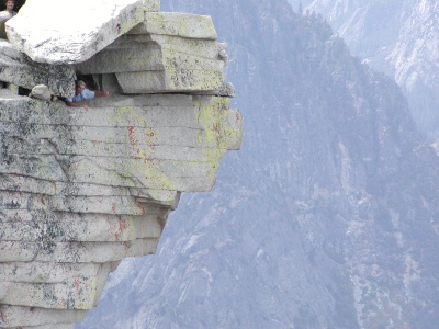 Half-Dome 72 - Diving Board - Jeff in Cubby Hole [1]