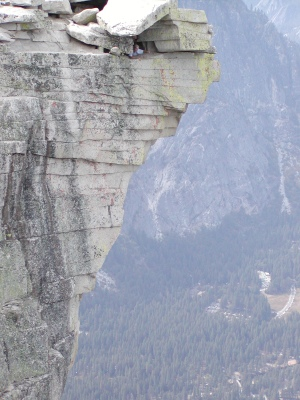 Half-Dome 73 - Diving Board - Jeff in Cubby Hole [2]