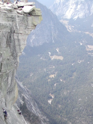 Half-Dome 74 - Diving Board - Jeff in Cubby Hole [3]