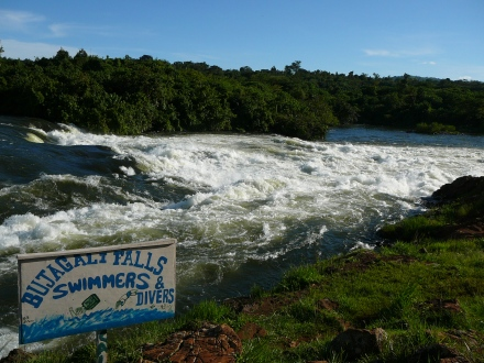 Bujagali Falls with Sign