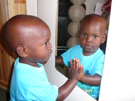 Judah Enjoys the Mirror