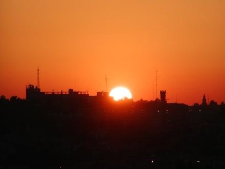 Sunset over Jerusalem from the Mount ofOlives