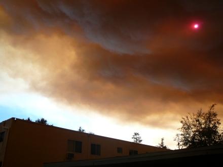 Red Sun & Rusty Sky over OakManor