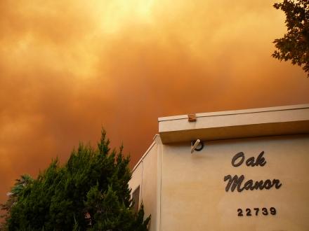 Smoke over OakManor