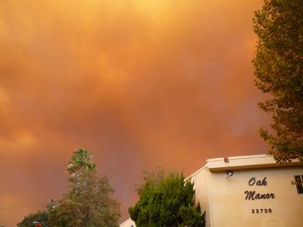 Smoky Sky over OakManor