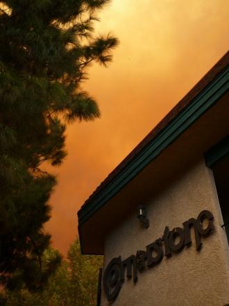 Smoke and Sky overCornerstone