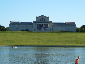 The St. Louis Art Museum from Across the Grand Basin (Forest Park, St. Louis)