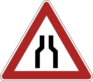 Bottleneck Traffic Sign