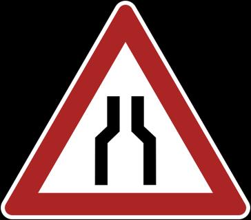 Bottleneck Traffic Sign