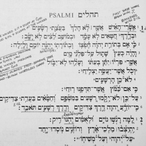 Psalm 1 Hebrew