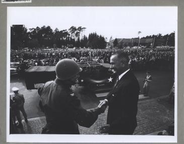 Col. Glover S. Johns & Lyndon B. Johnson